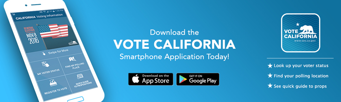 Vote California Mobile Apps for Apple App Store and Google Play