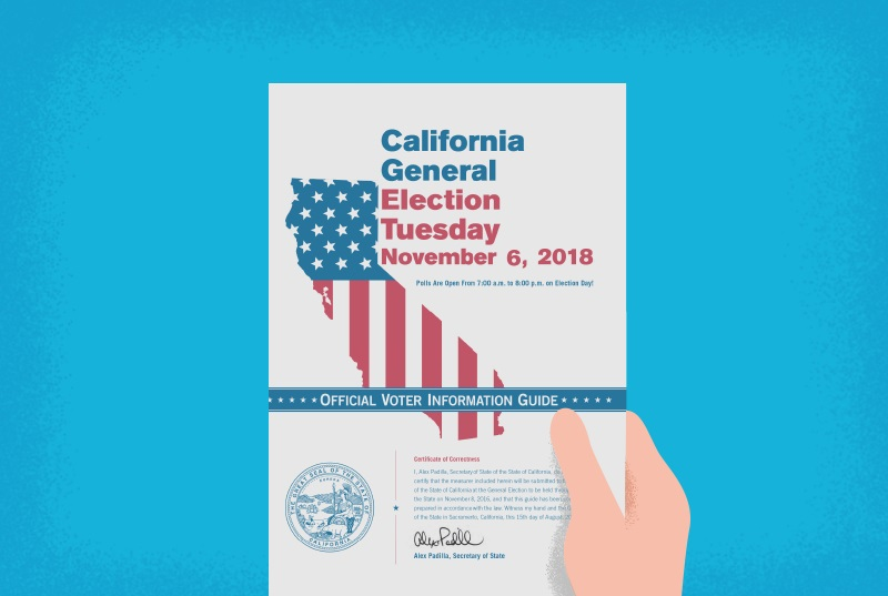 cover page of state voter information guide