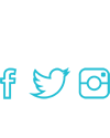 Social media icons, facebook, twitter and instagram