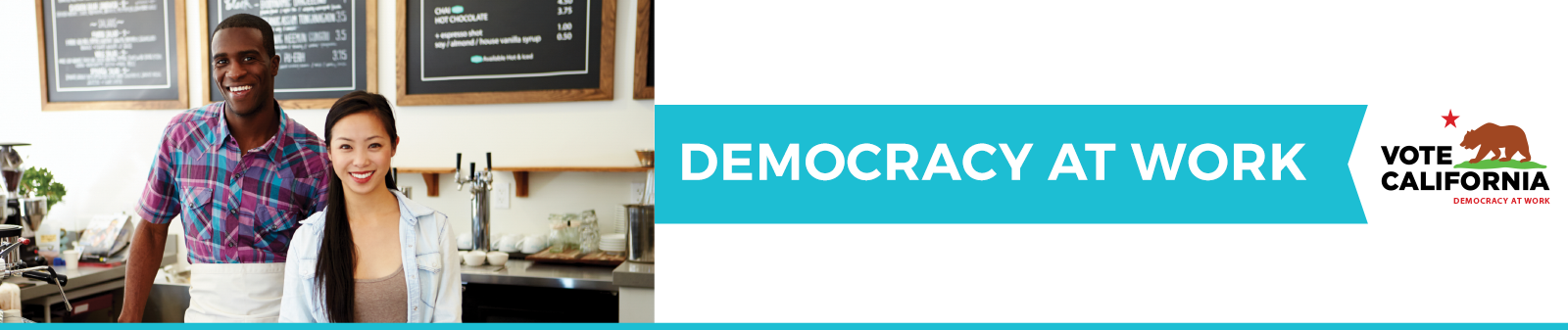 Democracy at work banner