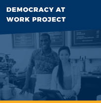 Democracy at work project button link