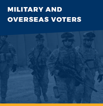 Military and Overseas Voter information button link