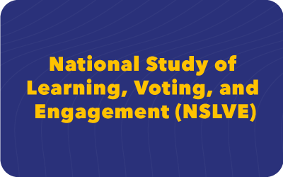 national study of learning, voting and engagement