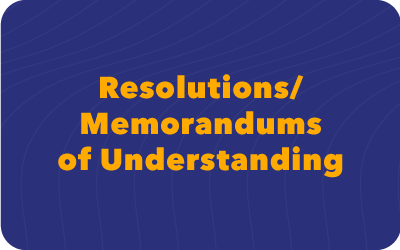 Resolutions and MOUs