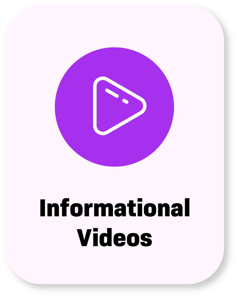 informational video button