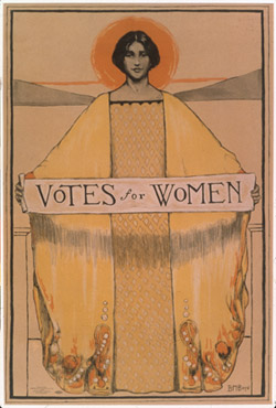 Women's suffrage poster.