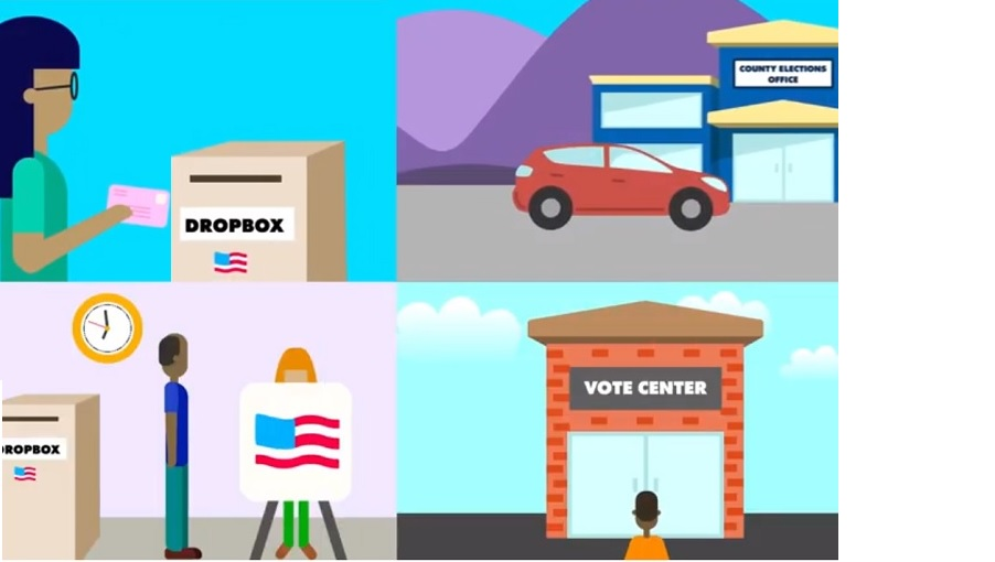 Graphic Showing Different Options for Casting a Ballot